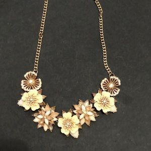 Off White Charlotte Russe Statement Necklace